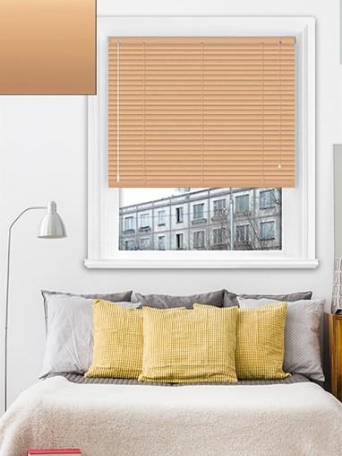 Matte Soft Orange 25mm Aluminium Venetian Blind