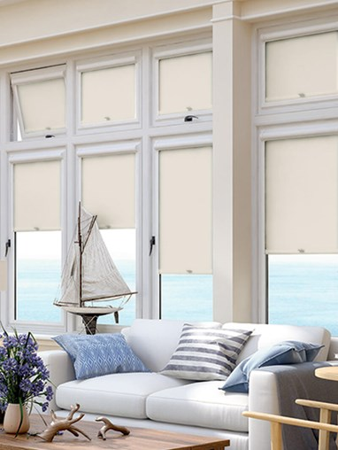 Blackout Ivory Perfect Fit Roller Blind