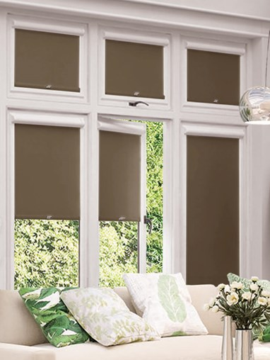Blackout Milk Chocolate Perfect Fit Roller Blind