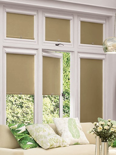 Blackout Natural Perfect Fit Roller Blind