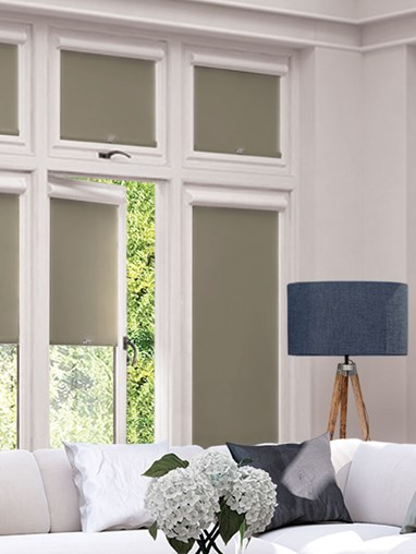 Blackout Taupe Perfect Fit Roller Blind
