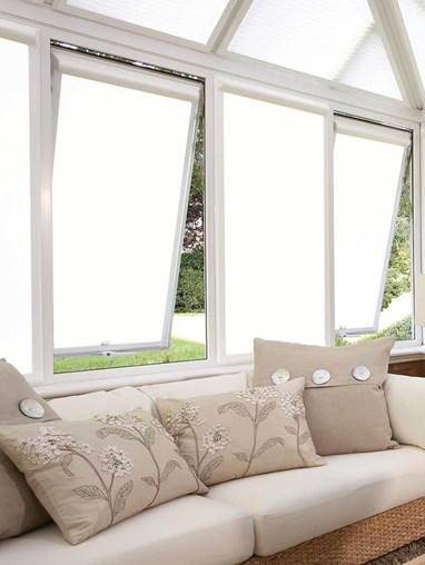 Blackout White Perfect Fit Roller Blind
