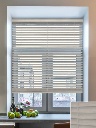 Chinchilla 50mm Wooden Electric Venetian Blind