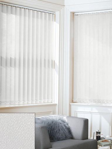 Textured White 89mm Daylight Vertical Blind