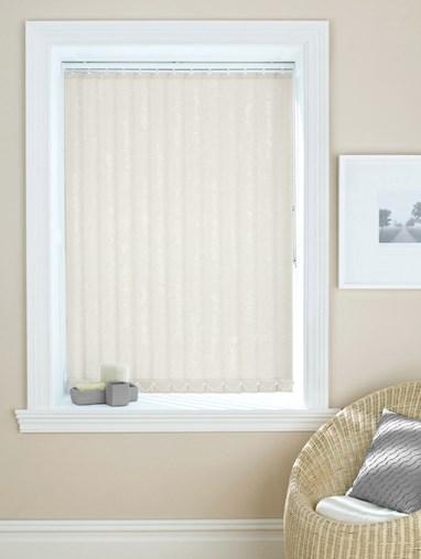 Shimmer Ivory 89mm Daylight Vertical Blind