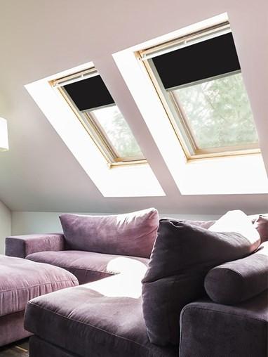 Classic Black Blackout Skylight Blind To Fit Dakstra Windows
