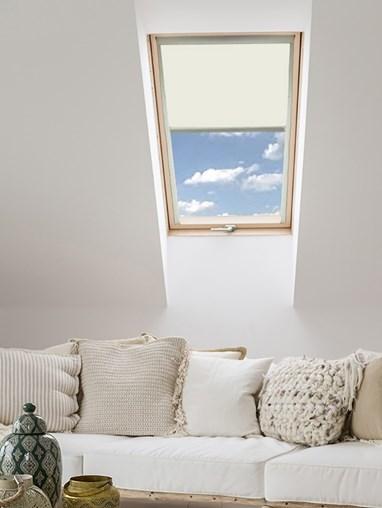 Classic Ivory Blackout Skylight Blind To Fit Dakstra Windows