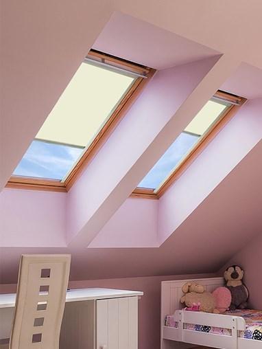 Classic Lambskin Blackout Skylight Blind To Fit Dakstra Windows