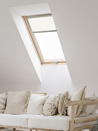 Classic White Blackout Skylight Blind To Fit Dakstra Windows
