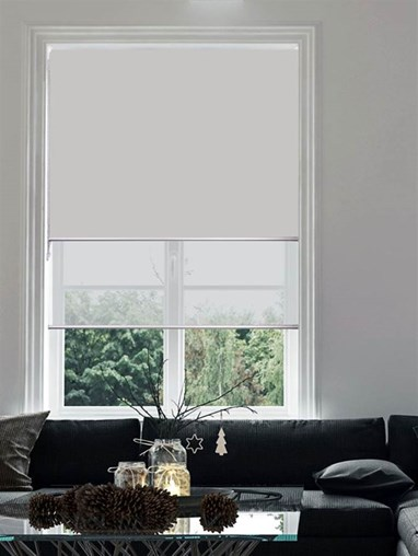 Grey Double Roller Blind