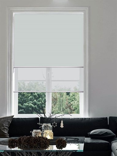 Light Grey Double Roller Blind