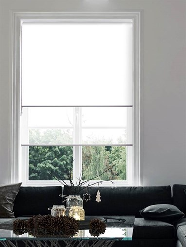 White Double Roller Blind