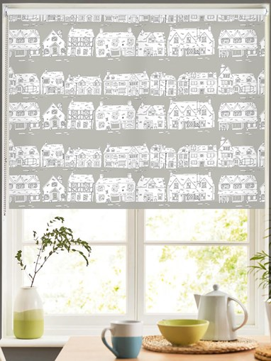 Cotswold Way on Flint Roller Blind by Amanda Redwin