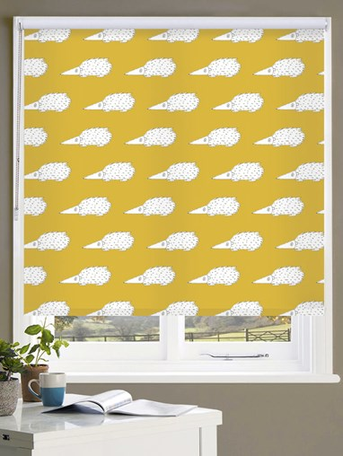 Prickles on Sunflower Roller Blind by Amanda Redwin