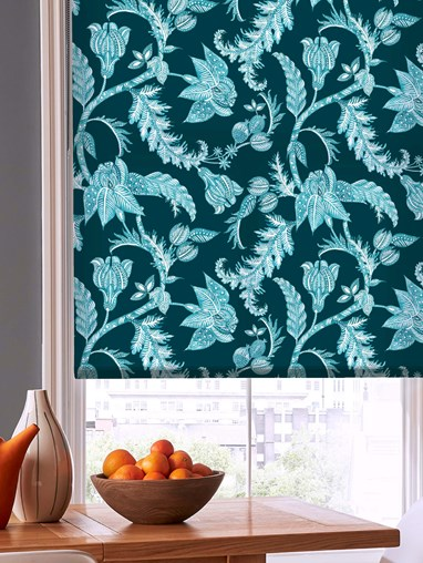 Java Teal Roller Blind by Boon & Blake