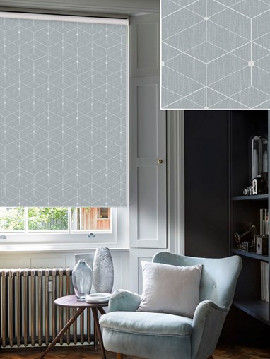 Illusion Pebble Blackout Electric Roller Blind