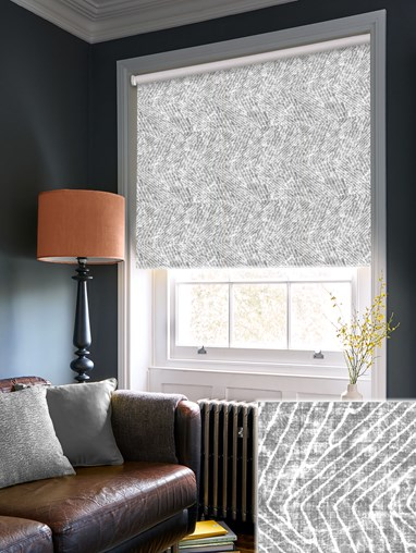 Linear Luxe Charcoal Blackout Electric Roller Blind