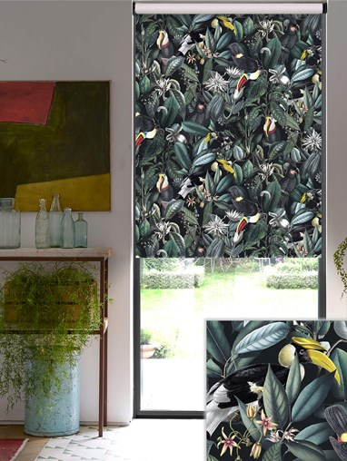 NeoTropical Onyx Blackout Electric Roller Blind