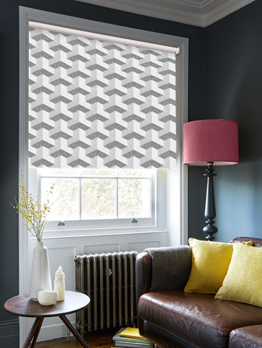 Optical Monochrome Blackout Electric Roller Blind