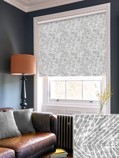 Linear Luxe Charcoal Daylight Electric Roller Blind
