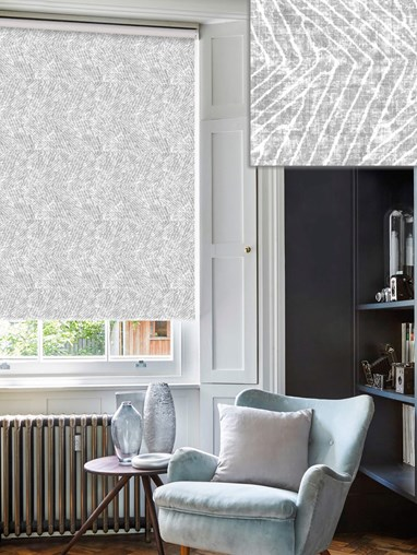 Linear Luxe Stone Daylight Electric Roller Blind