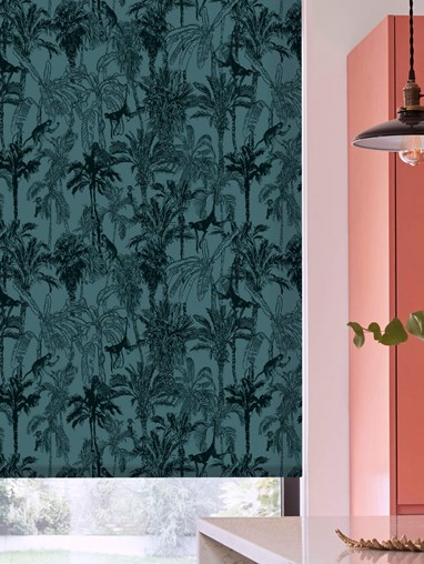 Amazon Teal Daylight Electric Roller Blind by Boon & Blake