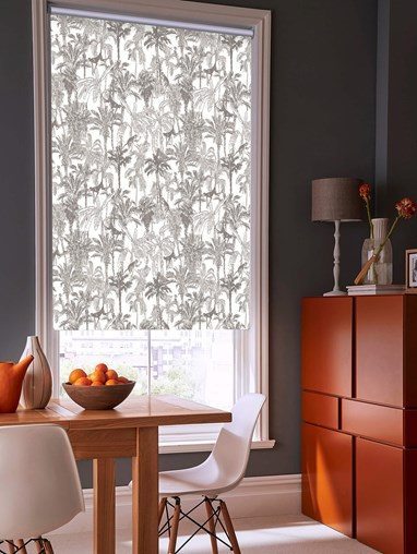 Amazon Natural Patterned Blackout Electric Roller Blind by Boon & Blake