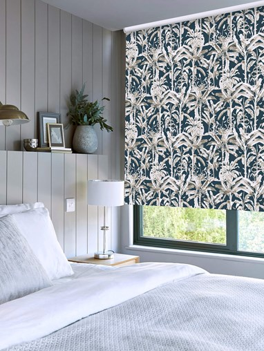 Ecuador Marine Patterned Blackout Electric Roller Blind by Boon & Blake