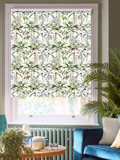 Ecuador Natural Patterned Blackout Electric Roller Blind by Boon & Blake