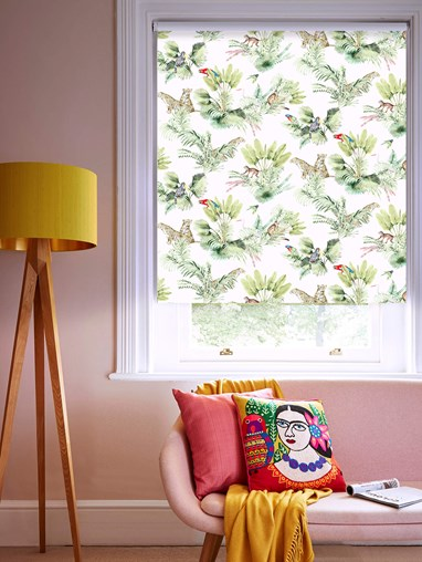 Honduras Natural Patterned Blackout Electric Roller Blind by Boon & Blake