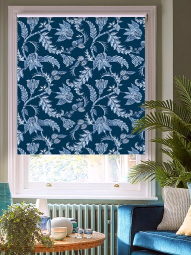 Java Marine Patterned Blackout Electric Roller Blind by Boon & Blake