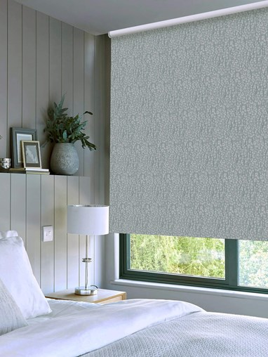 Sahara Mist Patterned Blackout Electric Roller Blind by Boon & Blake