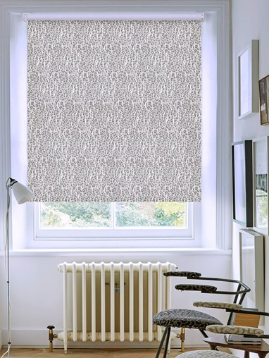Sahara Natural Patterned Blackout Electric Roller Blind by Boon & Blake
