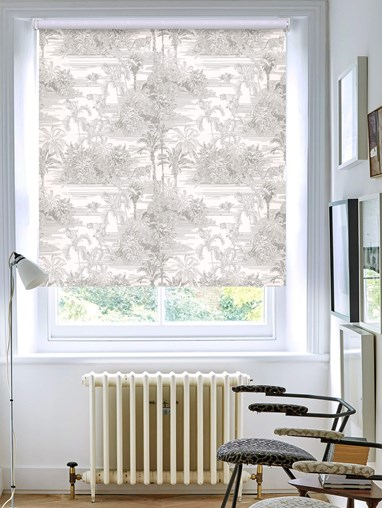 Tropical Toile Natural Patterned Blackout Electric Roller Blind by Boon & Blake