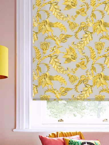 Java Mustard Daylight Electric Roller Blind by Boon & Blake