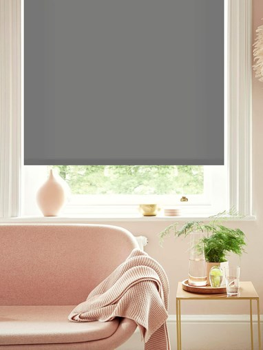 African Grey Daylight Electric Roller Blind by Boon & Blake