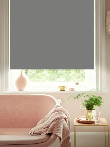 African Grey Blackout Electric Roller Blind by Boon & Blake