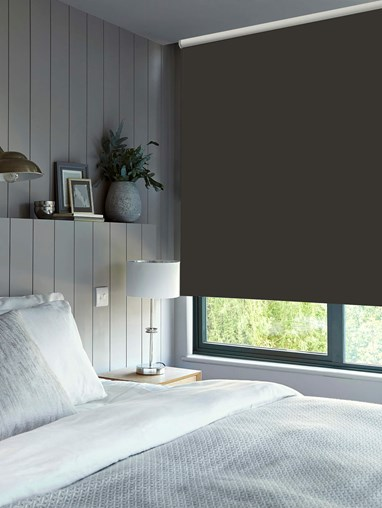 Charcoal Blackout Electric Roller Blind by Boon & Blake