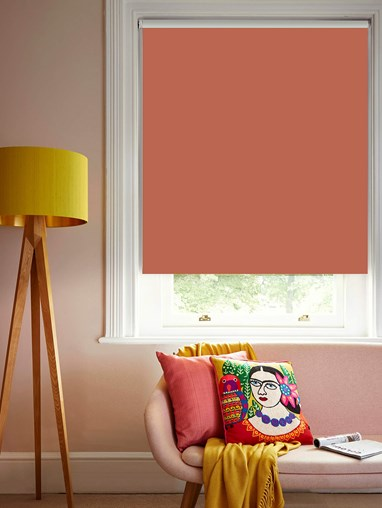 Coral Blackout Electric Roller Blind by Boon & Blake