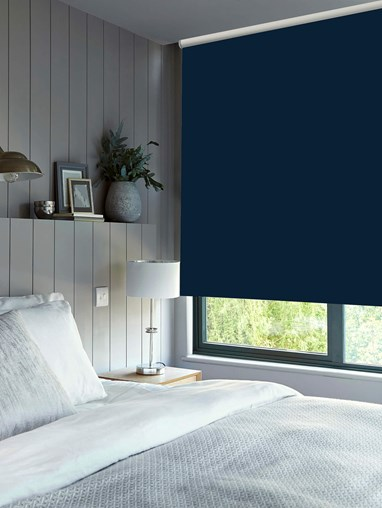 Marine Blackout Electric Roller Blind by Boon & Blake