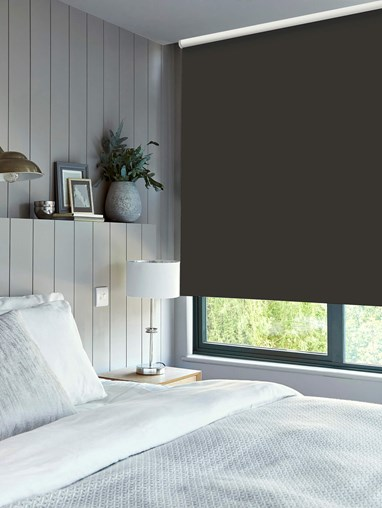 Charcoal Daylight Electric Roller Blind by Boon & Blake