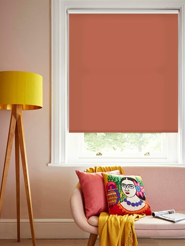 Coral Daylight Electric Roller Blind by Boon & Blake