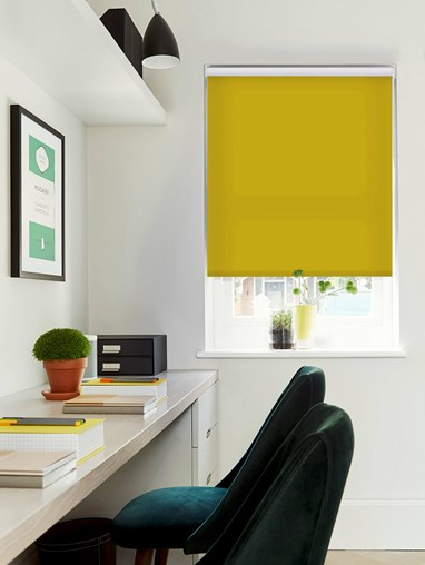 Mustard Daylight Electric Roller Blind by Boon & Blake