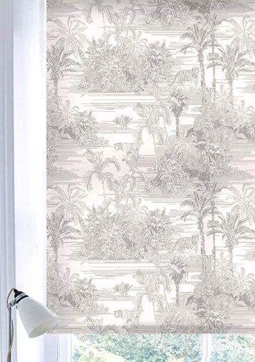 Tropical Toile Natural Daylight Electric Roller Blind by Boon & Blake