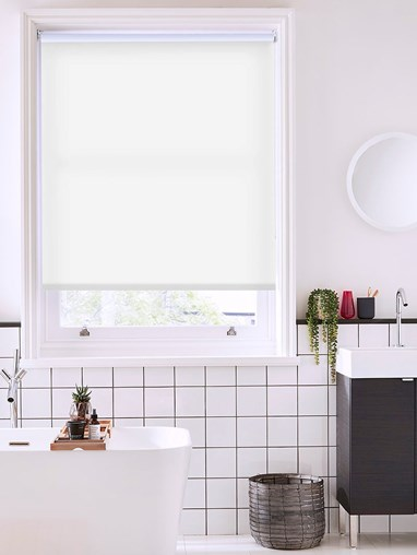 Jasmine White Daylight Electric Roller Blind
