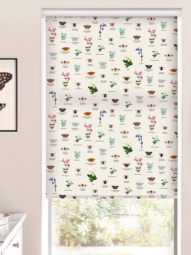 Oxfordshire Wildlife Electric Roller Blind by Lorna Syson