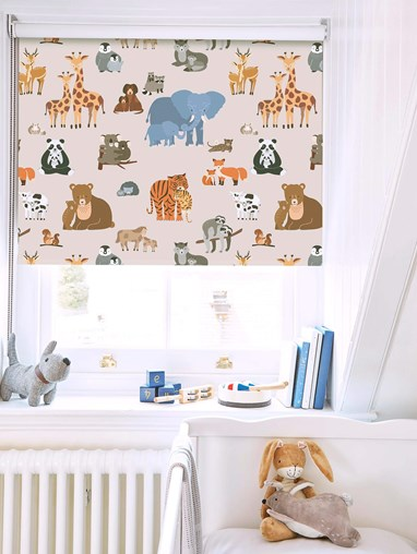 Animal Babies Blackout Roller Blind