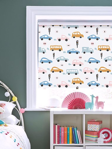 Beep Beep Blackout Roller Blind