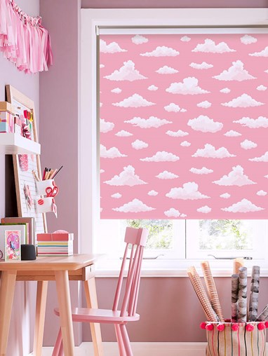Candy Floss Clouds Blackout Roller Blind