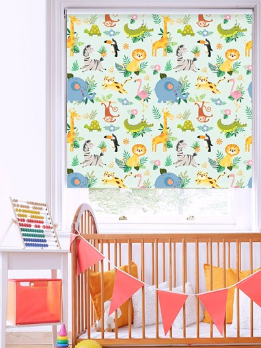 Safari Party Blackout Roller Blind